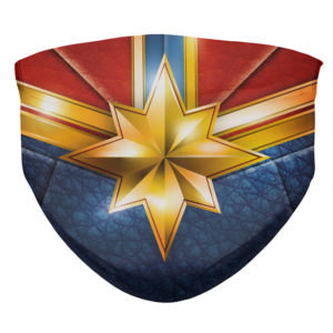 Captain Marvel from the Avengers End Game Face Mask