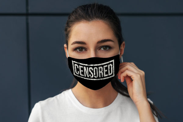 Censored Silence Inappropriate Talking Face Mask