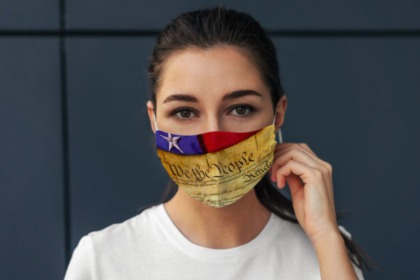 We The People United States Constitution Patriotism Proud Citizen Face Mask