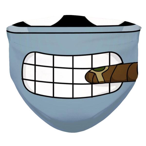 Bender from Futurama Smile and Cigar from Futurama Face Mask