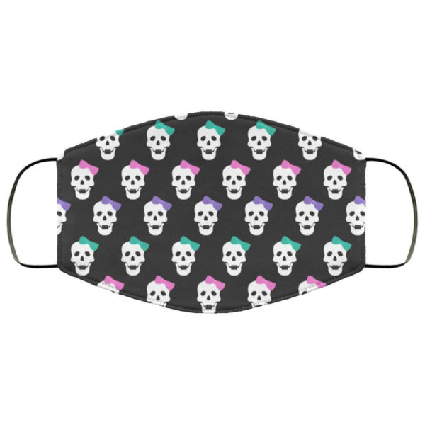 Cute Skull Bows Halloween Face Mask - Trick or Treat Mask