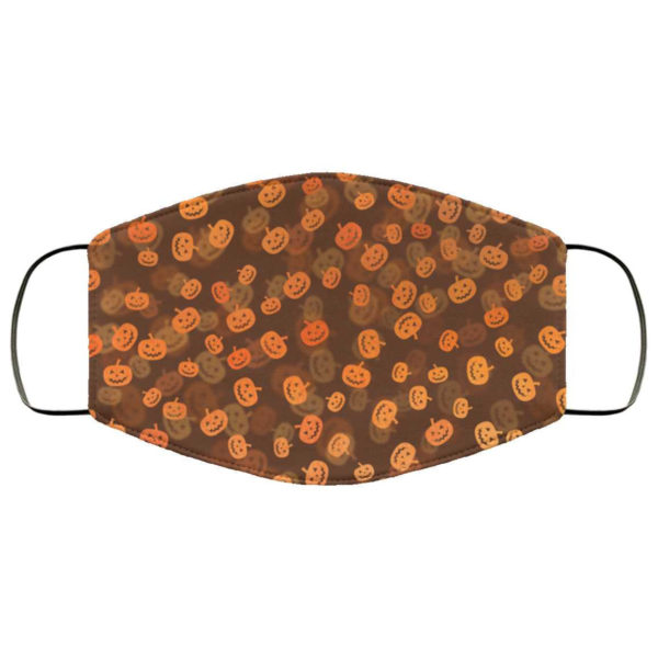 Orange Pumpkin Halloween Face Mask - Trick or Treat Mask