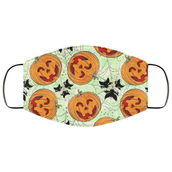 Cute Pumpkin Halloween Face Mask - Trick or Treat Mask
