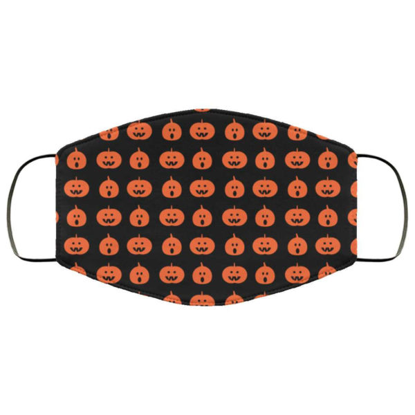 Pumpkin Halloween Face Mask - Trick or Treat Mask