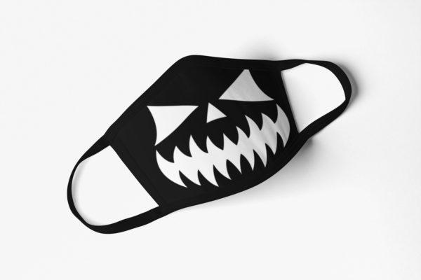 Black Halloween Face Mask