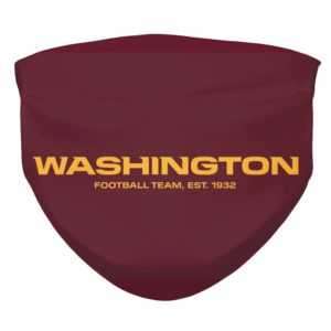 Washington Football Team New Logo Face Mask