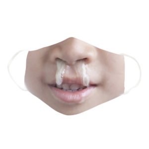 Funny Disgusting Gross Baby Nose Snot Face Mask