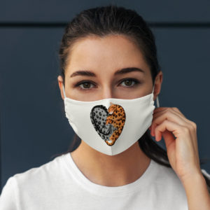 Funny Bengal Cat Love Heart Shape Exotic Pet Face Mask