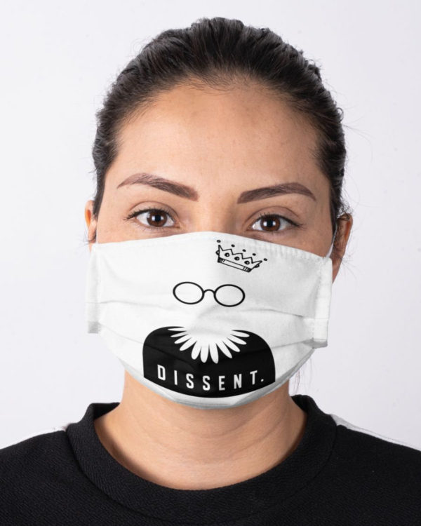 Ruth Bader Ginsburg Face Mask RBG Notorious Feminism Equality Girl Power Dissent Face Mask
