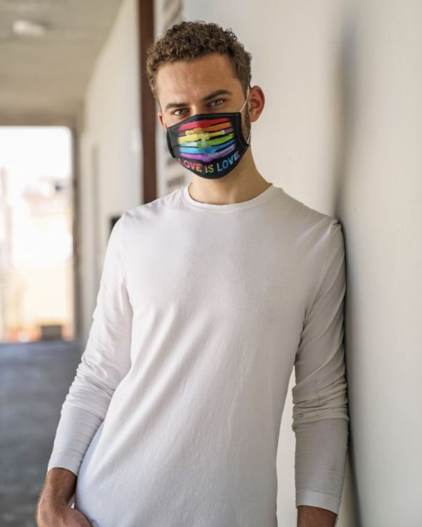 Pride Equal Humanity Love is Love LGBT Rainbow Face Mask