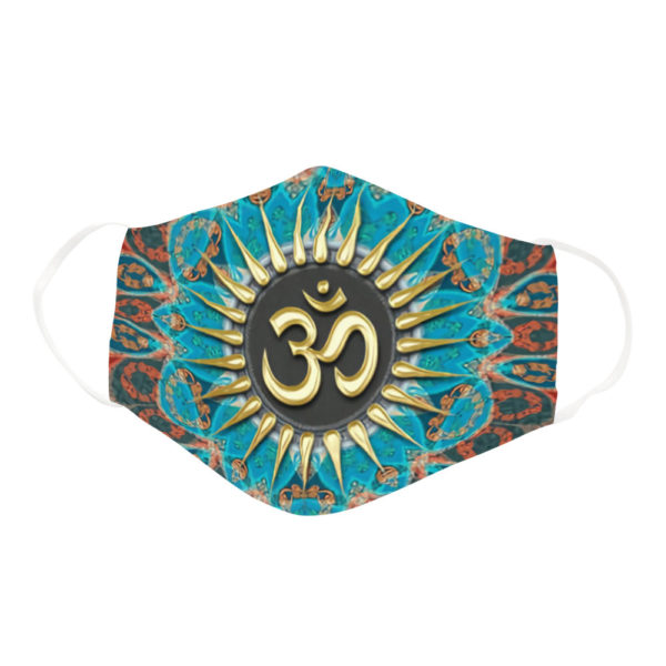 Beautiful Om Symbol Yoga Lover Turquoise Mandala Design Face Mask