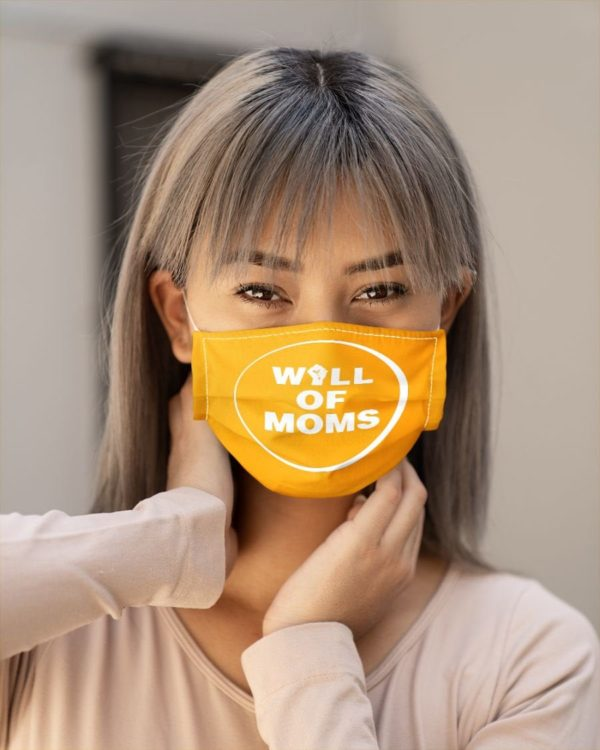 Wall of Moms Face Mask Yellow Protest Mask