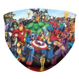 Marvel Comics Superhero Group Shot Face Mask