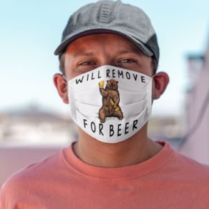 Camping Drinking Beer Mask Will Remove For Beer Face Mask
