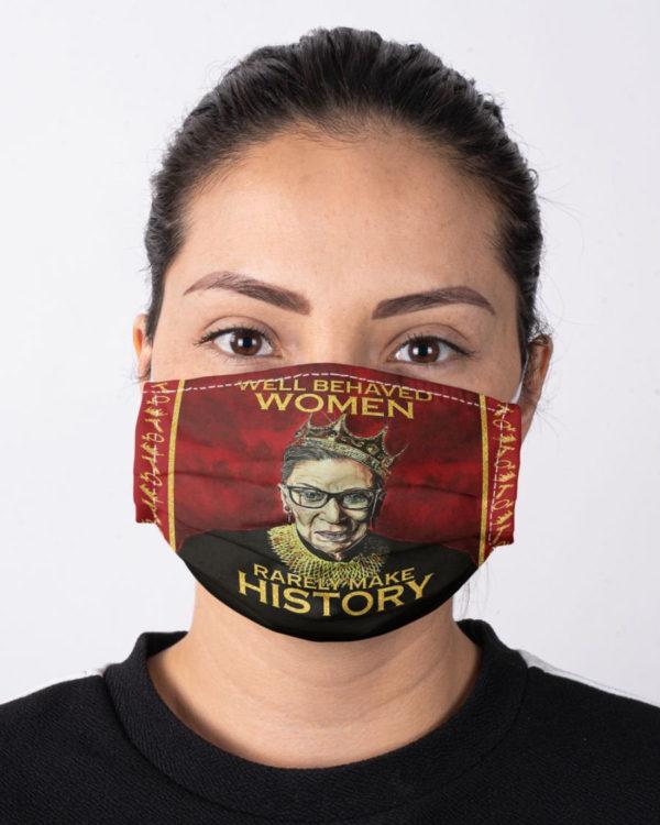 Ruth Bader Ginsburg Face Mask RBG Notorious Feminism Equality Face Mask