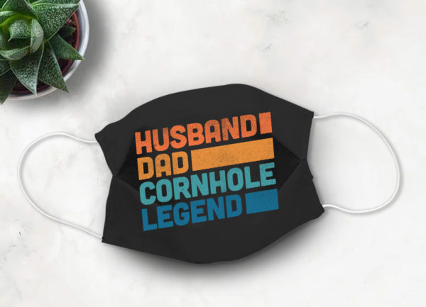 Husband Dad Cornhole Legend Face Mask