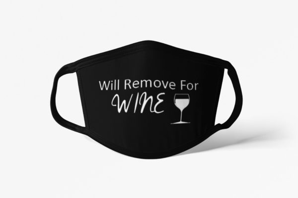 Will Remove For Wine Black Face Mask