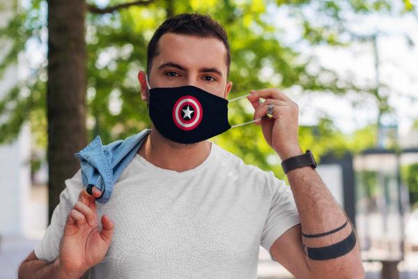 Superhero Captain Shield American Comic Face Mask
