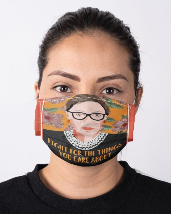 RBG Notorious Ruth Bader Ginsburg Feminism Fight For The Things You Care About Face Mask