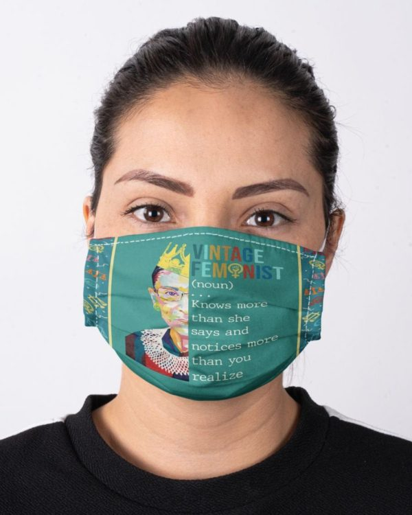RBG Notorious Ruth Bader Ginsburg Feminism Vintage Feminist Definition Equality Face Mask