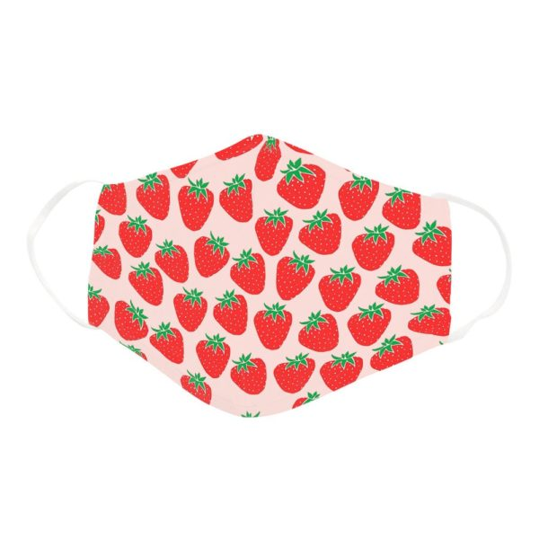 Cute Strawberry Pink Fruit Lover Girl Women Perfect Gift Face Mask