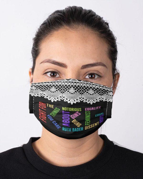 RBG Notorious Ruth Bader Ginsburg Feminism Not Fragile Like a Flower Fragile Face Mask