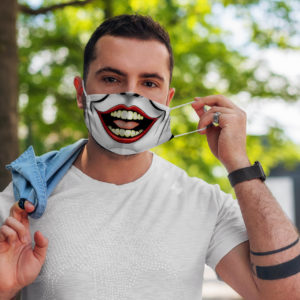 Crazy Laughing Clown Mouth Villain Gift Face Mask