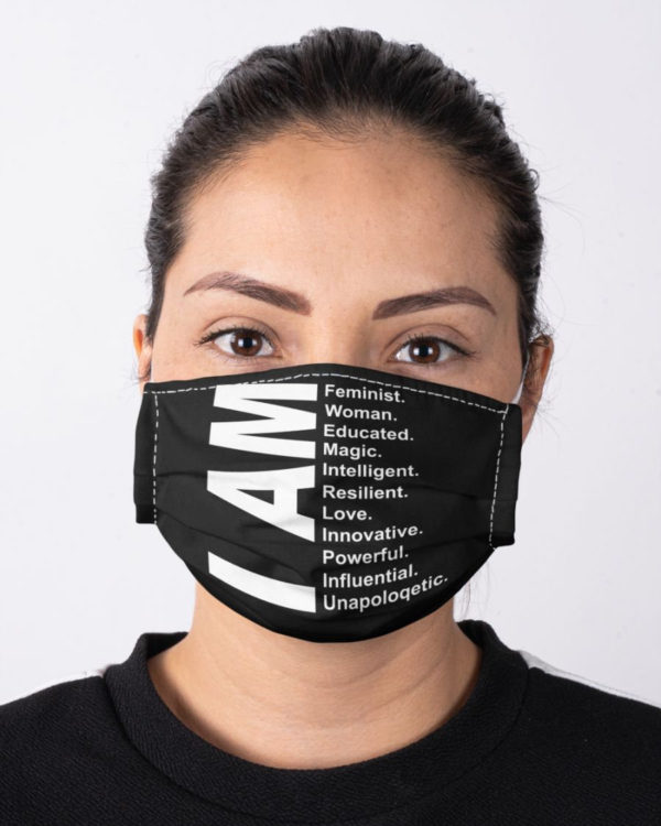 Feminism I Am Feminist Woman Educated Equal Rights Civil Rights Resist Face Mask