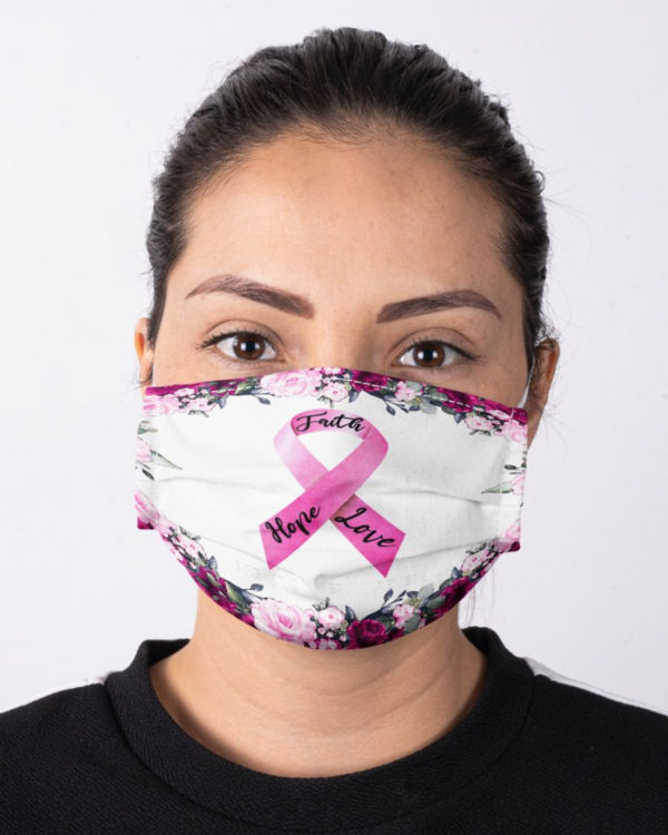 Breast Cancer Awareness Breast Cancer Warrior Cancer Fighter Face Mask