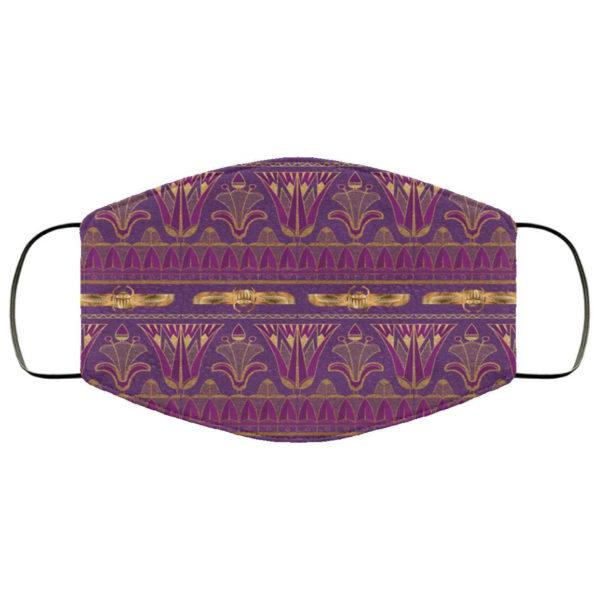 Gold Ornate Egyptian Art Purple Egyptian Face Mask