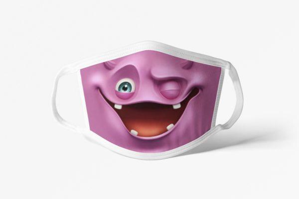 Purple Monster Face Mask