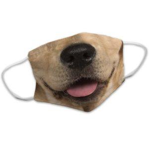Yellow Labrador Lab Dog Face Face Mask