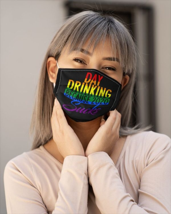 Day Drinking Before 2020 Sucks Drinking Beer Face Mask