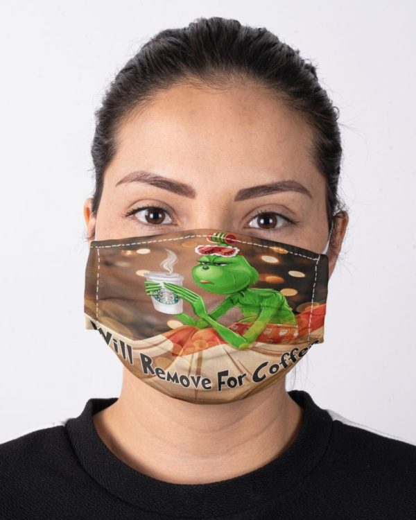 The Grinch Drinking Coffee Mask Will Remove For Coffee Face Mask