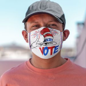 Voting US Presidential Election Cat In The Hat Face Mask