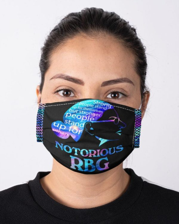 Ruth Bader Ginsburg The Strongest People Stand Up For Others Equality Face Mask
