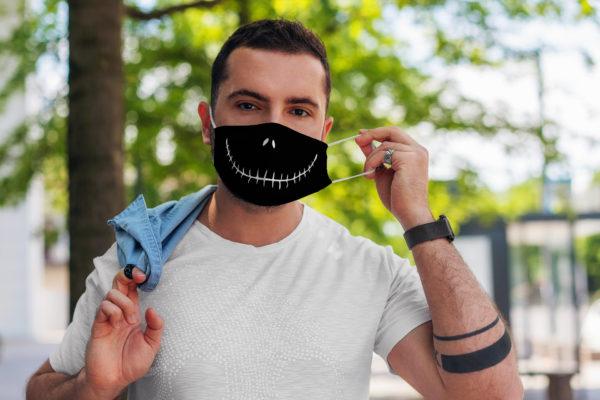 Stitched Smile Skeleton Cartoon Face Mask