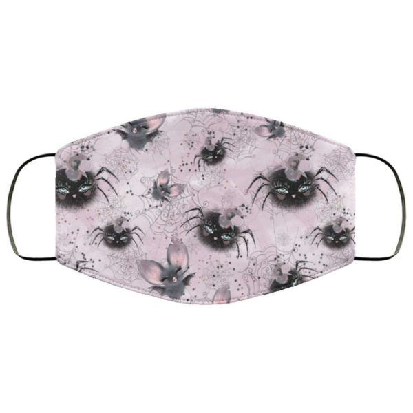 Cute Bats Spiders Halloween Face Mask - Trick or Treat Mask