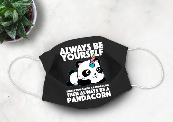 Pandacorn Cute Face Mask Panda and Unicorn Face Mask