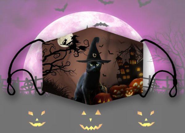 Cat halloween face mask