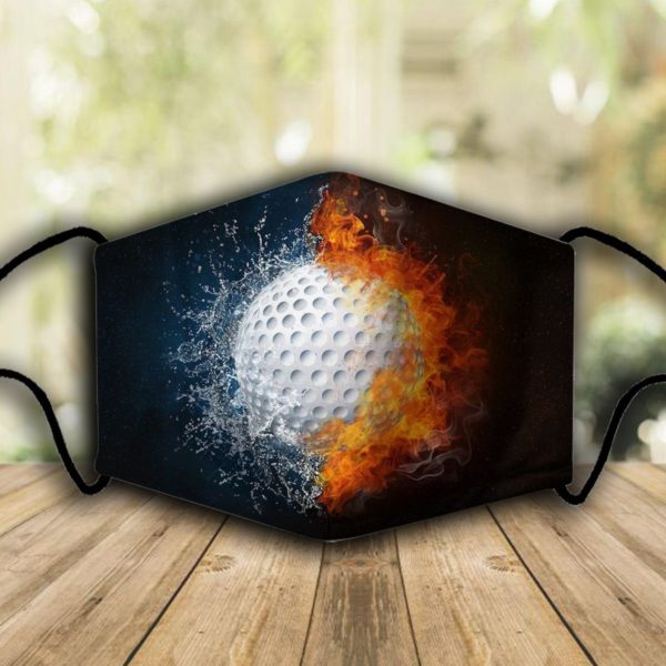 Golf fire and water face mask