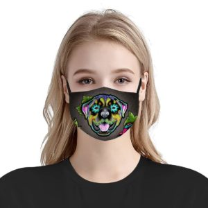 Rottweiler day of the dead Face Mask