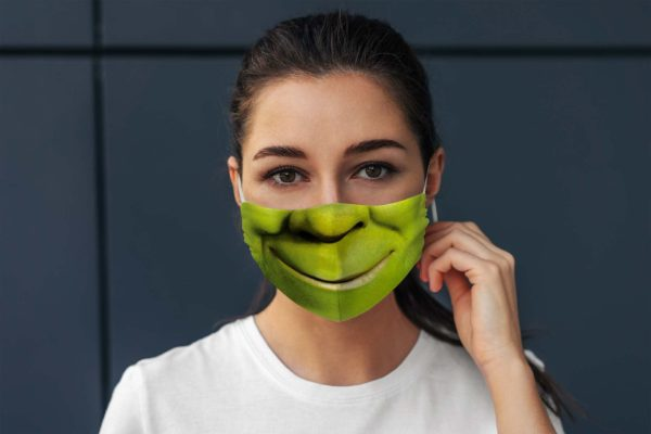 Green Orge Cartoon Character Fairy Tale Story Face Mask