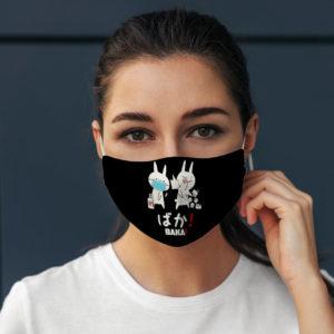 Japanese Baka Slapping Geek Gamer Nerd Face Mask