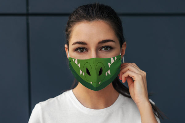 Cute Crocodile Alligator Cartoon Snout Lovers Face Mask
