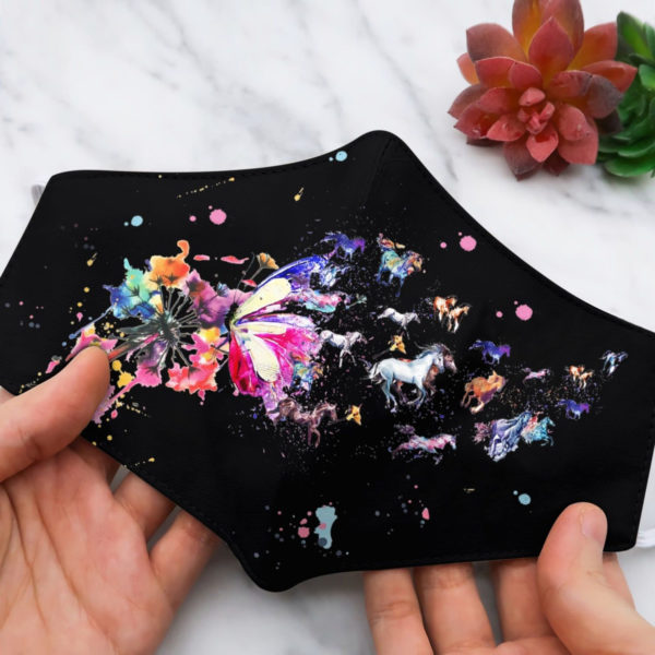 Horse dandelion colorful beauti face mask