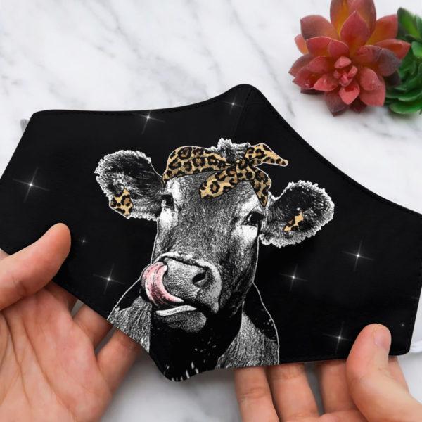 Cow heifer beautiful face mask