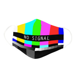 Funny Vintage Classical Television TV No Signal Screen Face Mask