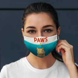 Funny Yellow Cat PAWS Under Ocean Beast Face Mask
