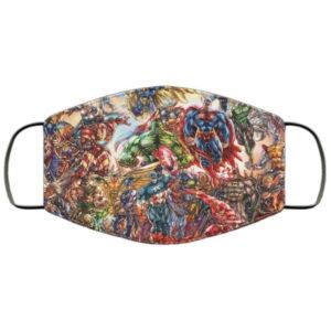 DC Super Heroes Face Mask